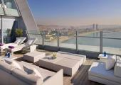 hotel w suite terrace sundeck chairs view barcelona