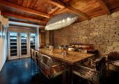 rustic furniture dining room beautiful mountain chalet to rent