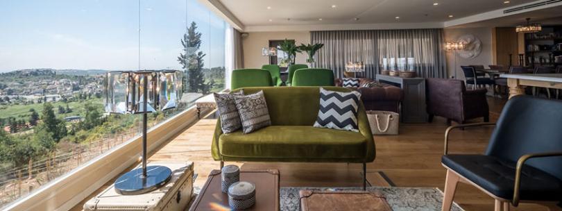 luxury hotel in countryside near Jerusalem