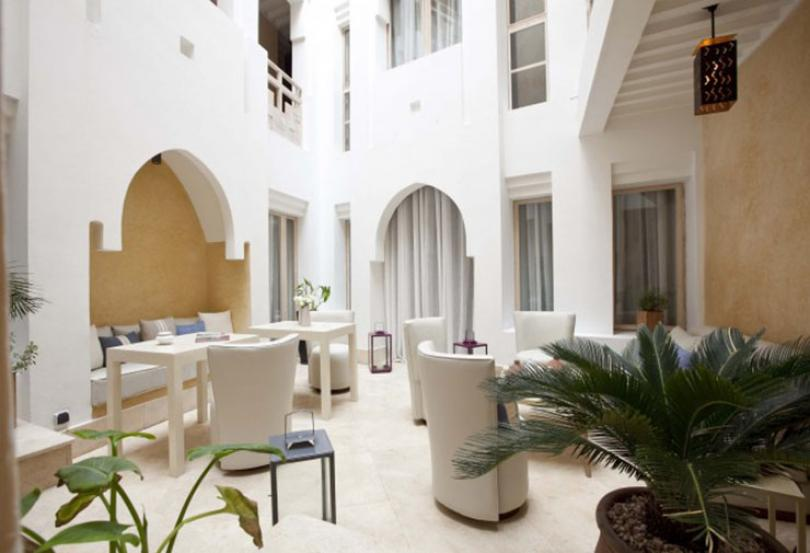 moroccan hotel with private garden