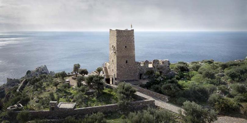 tainaron blue retreat stone tower