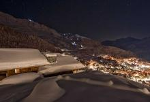 chalet corniche luxury ski holiday night view
