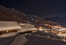 chalet corniche luxury ski holiday night view