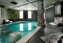 indoor pool in french chalet for rental