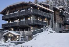 french alpes ski chalet outside view