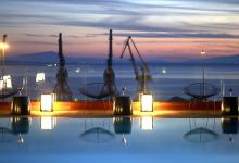 thessaloniki harbour night view rooftop pool the met hotel