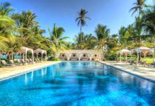 large outdoor pool nex to the beach in zanzibar