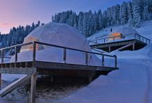 WhitePod Alpine Ski Resort at Swiss Alps