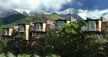 south island new zealand hotel tree houses