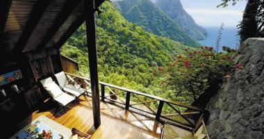 stunning landscape out of luxury suite resort balcony