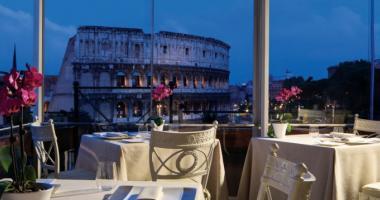 terrace view coliseum rome hotel