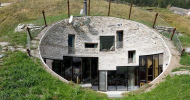 underground alps slope villa vals