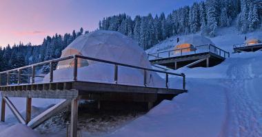 WhitePod Alpine Ski Resort at Swiss Alps